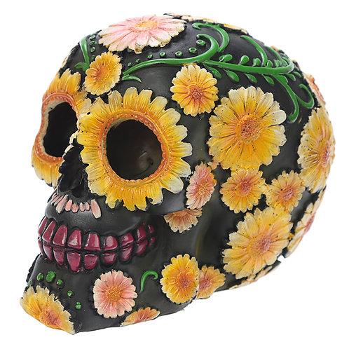 Fantasy Day of the Dead Daisy Skull