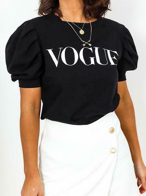Vogue Puff Sleeve T-Shirt