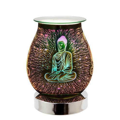 Buddha 3D Lamp Silver Base