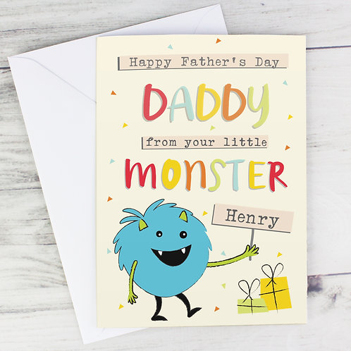 Personalised Little Monster Card