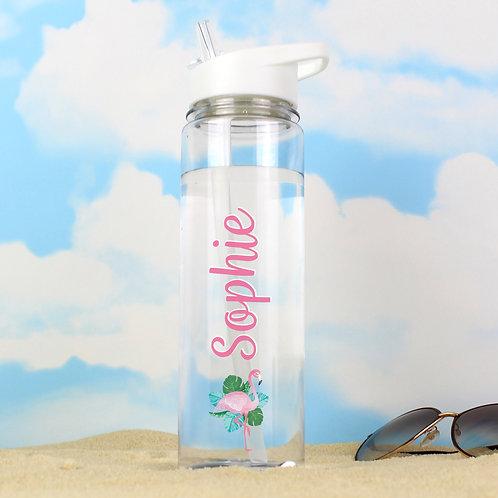 Personalised Flamingo Island Water Bottle