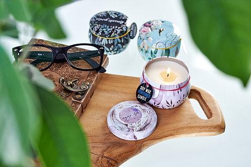 Art Tin Candle - Assorted Design