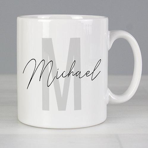 Personalised Name & Initial Mug