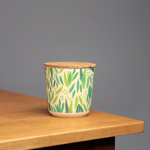 Small Bamboo Composite Storage Jar Willow