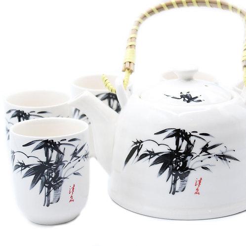 Herbal Teapot Set - White Stone Oriental