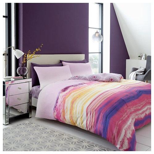 Ombre Pink Rainbow Multi Duvet Cover Reversible Bedding Set Pillow Case