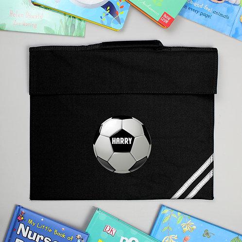 Personalised Football Black Book Bag