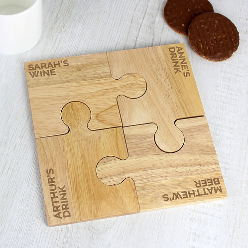 Personalised Free Text Jigsaw Coasters