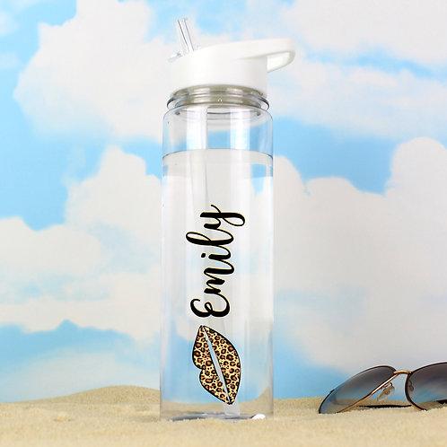 Personalised Lepoard Lips Island Water Bottle