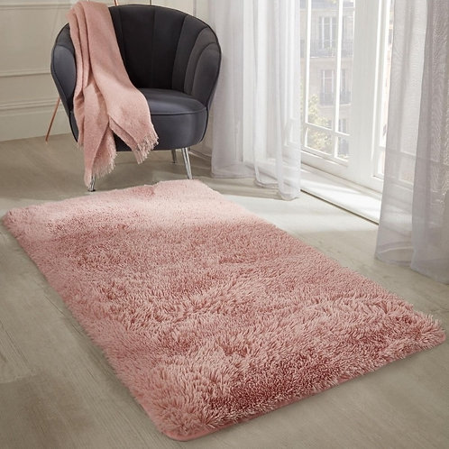 Fluffy Blush Pink Rug
