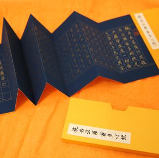 心經  金墨 萬年藍 冊頁.JPG