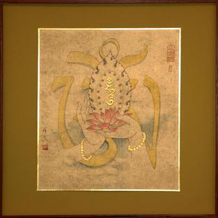 WSA50005    六字大明咒珍寶蓮花畫像