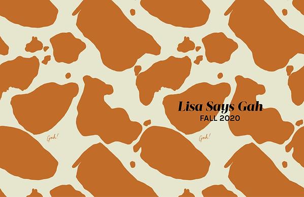 LISA SAYS GAH- FA20 LINESHEET _COVER PAG