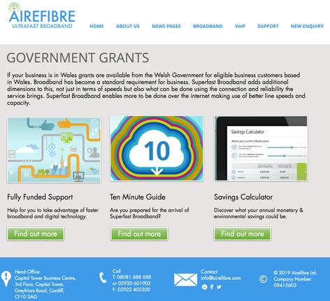 Airefibre Grants