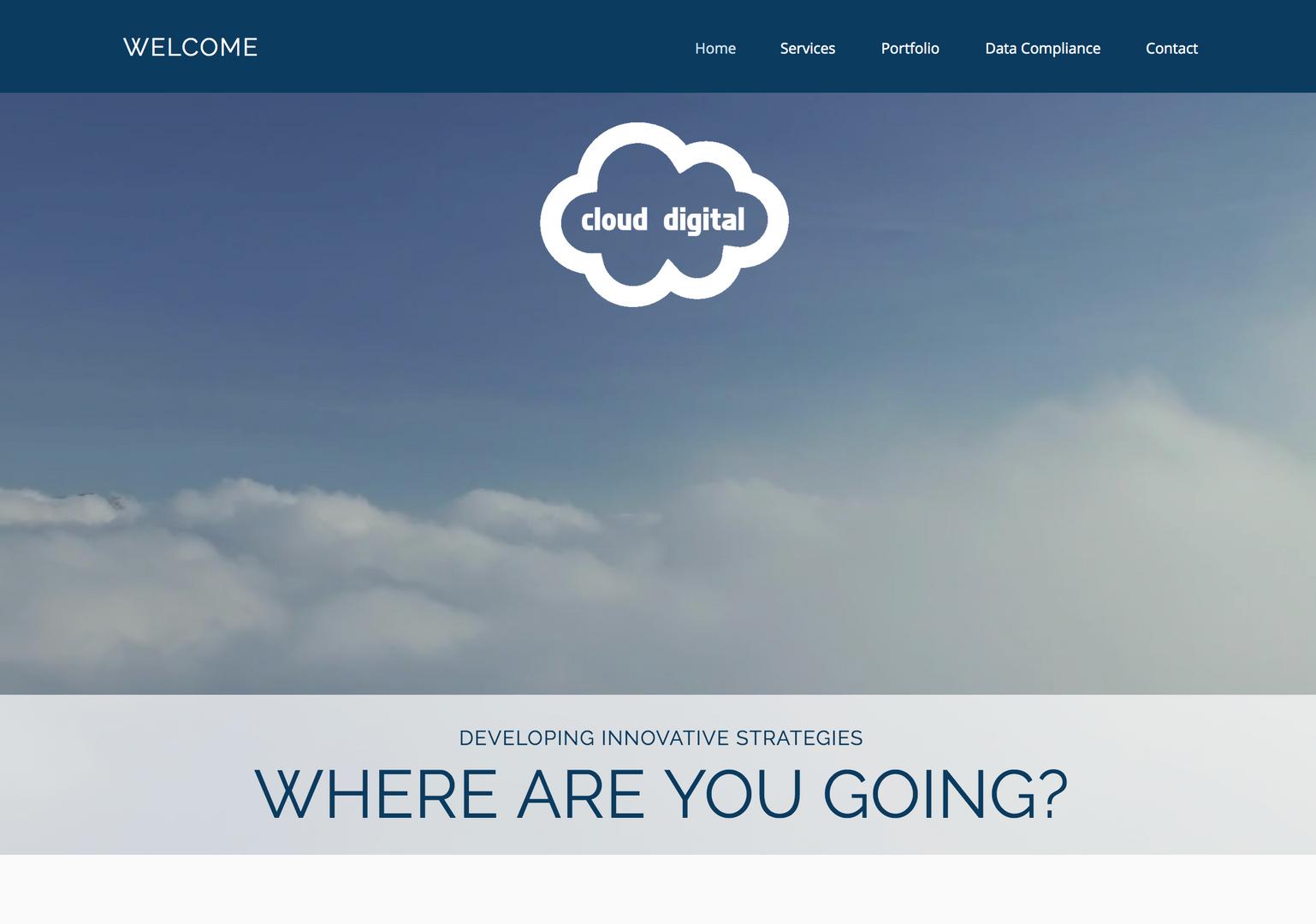 Cloud Digital Homepage