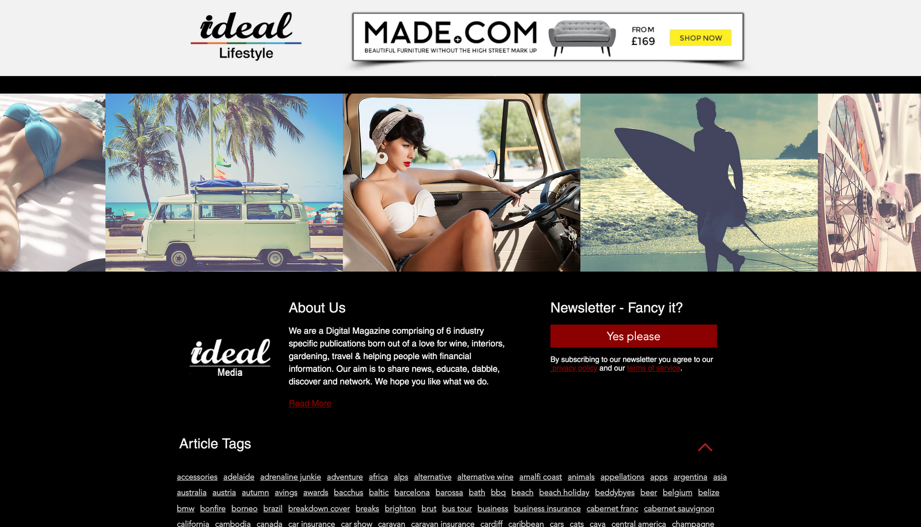 Ideal Lifestyle Footer