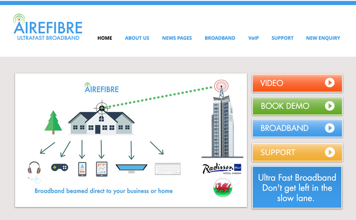 Airefibre Home Page