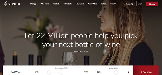 Vivino Top for Discovering New Wines