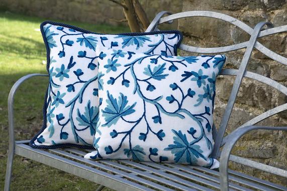 Luxurious Crewelwork Cushions