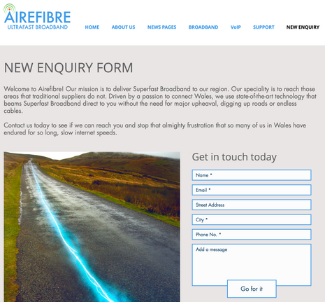 Airefibre Contact Form