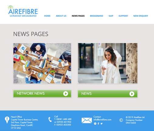 Airefibre News Pages