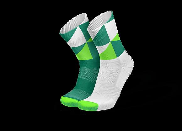 POLYGONS GREEN - גרבי ריצה וספורט