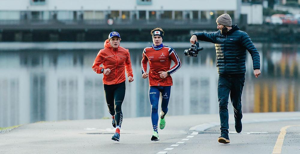 צמד הספורטאים הנורווגי גוסטב אידן וכריסטיאן בלומנפלט