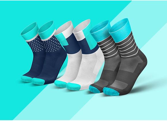 מארז גרביים כחול ציאן - CYAN BUNDLE