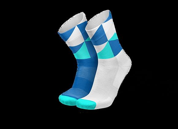 POLYGONS BLUE - גרבי ריצה וספורט