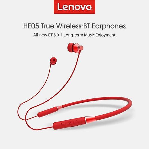 Lenovo HE05 Bluetooth Headphones IPX5 (Red)