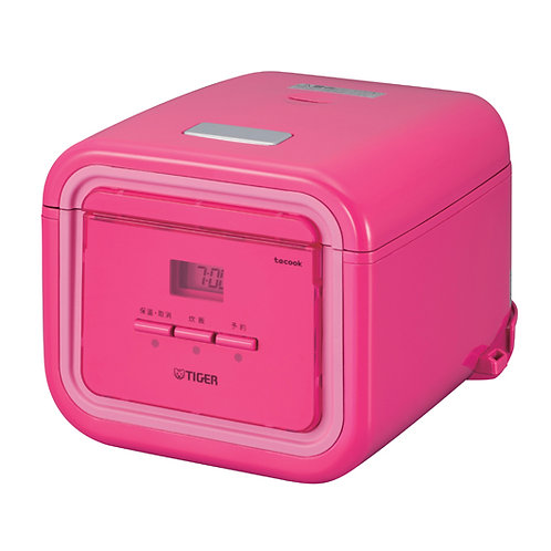 Tiger 0.54LT Tacook Rice Cooker - Pink  - JAJ-A55S