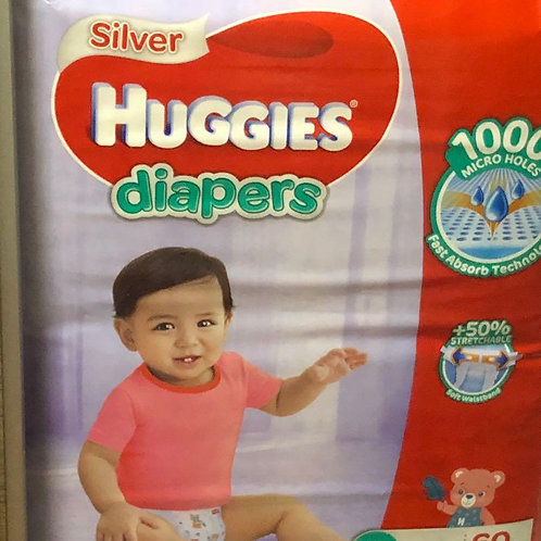 Huggies Silver Diapers - L (9 - 14kg)