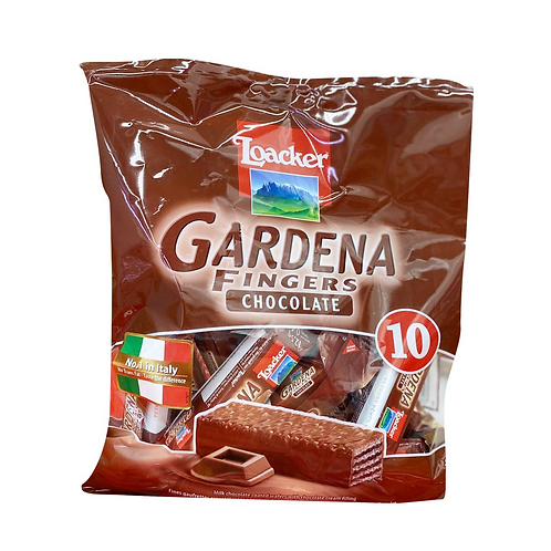 Loacker Gardena Wafer Fingers Chocolate 10s