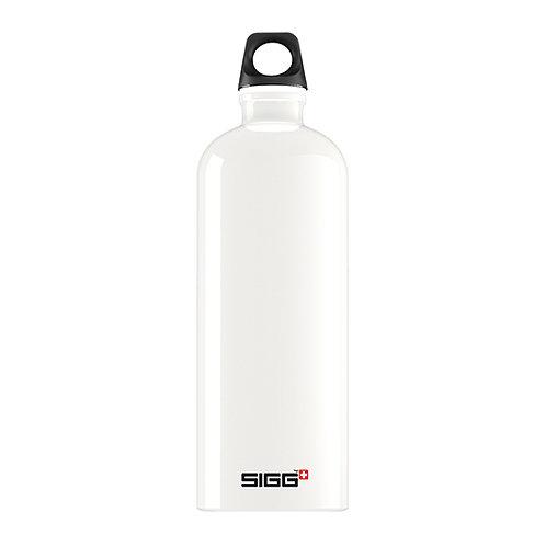 Sigg Traveller White 1L Water Bottle - 8159.1
