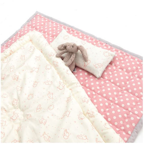 Lolbaby 100% Premium Cotton Bedding Set - Elephant Pink