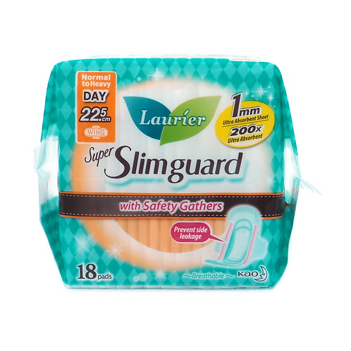 Laurier Super Slimguard Day Pads - Gather (22.5cm) 18 per pack