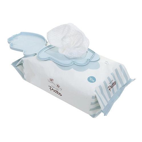Putto Secret Premium Embossing Baby Wet Tissue w/CAP 70 sheets x 6 packs