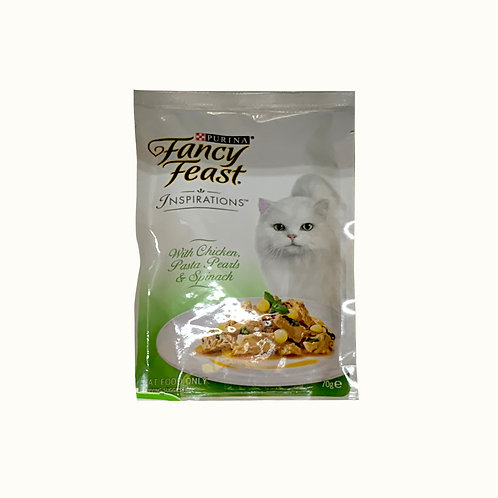 Fancy Feast Inspirations Cat Food - Chicken Pasta Pearls & Spinach 70g
