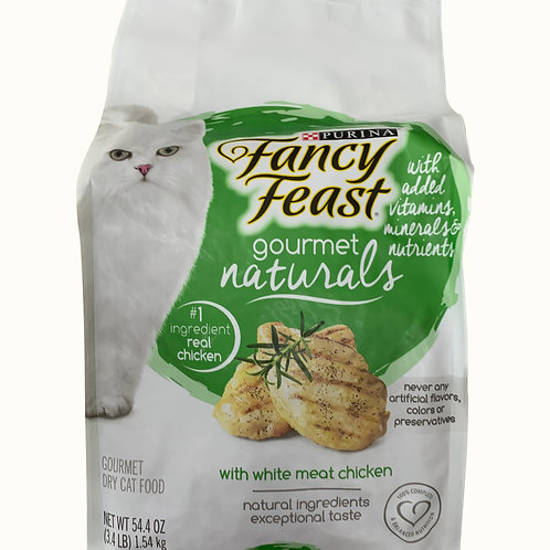 Fancy Feast Gourmet Naturals Cat Food - White Meat Chicken 1.54kg