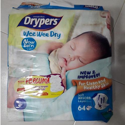 Drypers Wee Wee Dry Diapers - New Born (0 - 5kg)