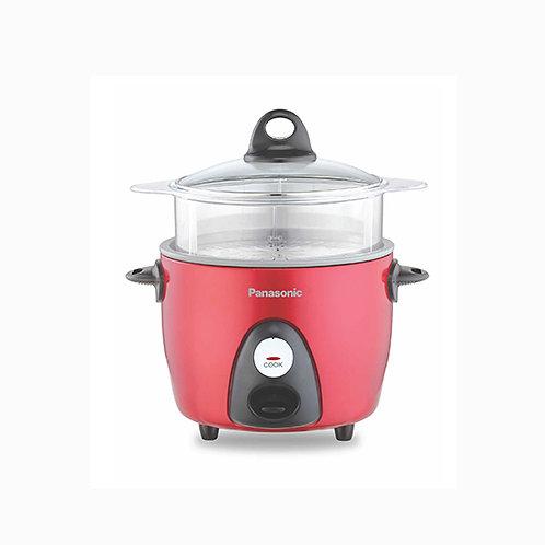 Panasonic 0.6LT Rice Cooker With Steam Basket (Red) - SR-G06FGELSH/RSH