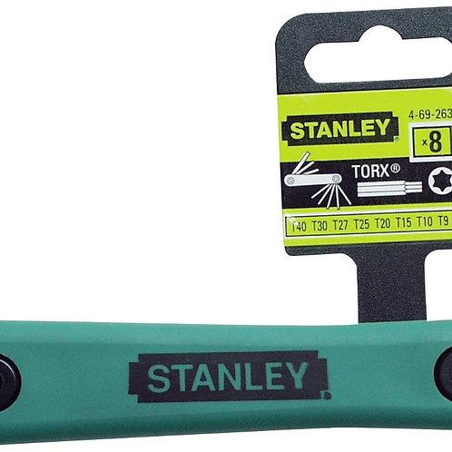 STANLEY HEX KEY 8PC TORX FOLD T9-T40, 69-263