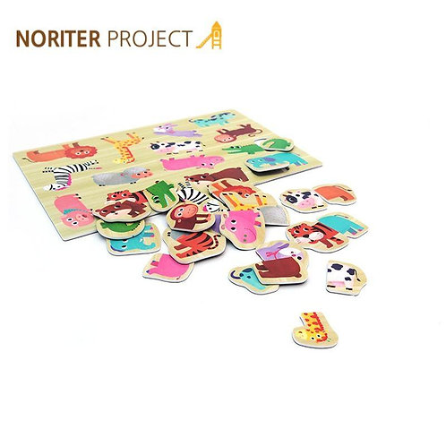 Noriterboard Magnetic Puzzle (Animal)