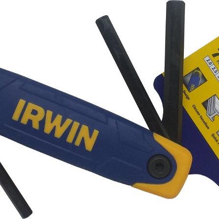 IRWIN 7PC 2.0-8.0MM HT FOLDING HEX KEY SET [T9097007]