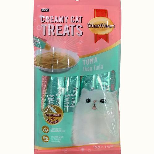Smart Heart Creamy Cat Treats - Tuna 4 x 15g