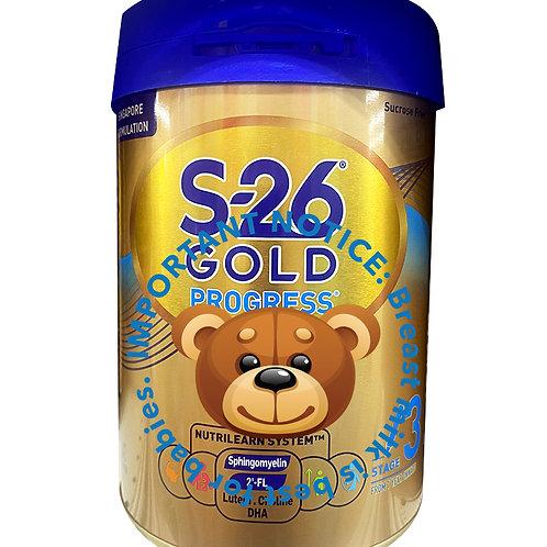 Wyeth S26 Progress Gold Grow Up Milk Formula - Stage 3 (900g)