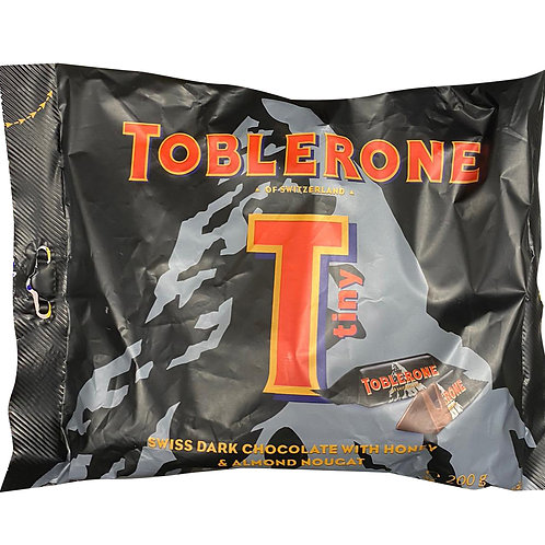 Toblerone Minis Share Pack -Swiss Dark Chocolate with Honey & Almond Nougat 200g