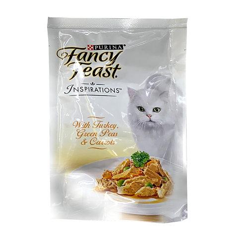 Fancy Feast Inspirations Cat Food - Turkey, Green Peas & Carrots 70g