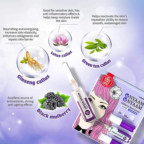 NYAAMNYAAM Micro-Needling Serum Facial Treatement - Mulberry Stem Serum