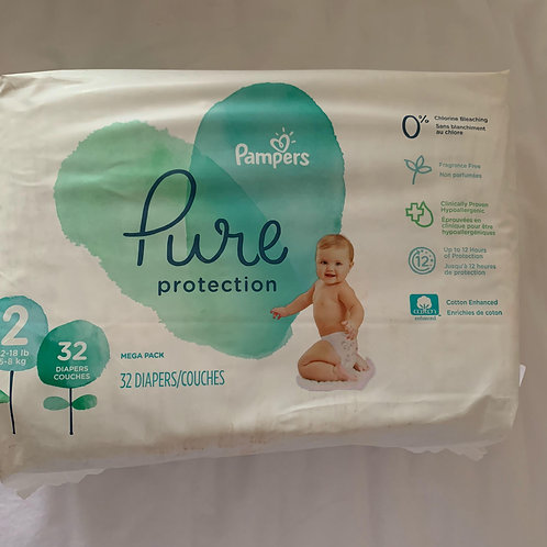 Pampers Pure Protection Diapers - Size 2 (5 - 8kg)